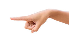 Human hand pointing. Stock Photography