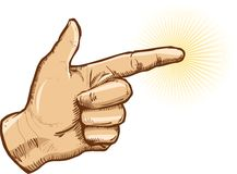 Human hand pointing vector illustration. All parts are editable Royalty Free Stock Photos
