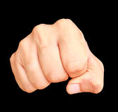 Human hand showing clenched fist Royalty Free Stock Photography