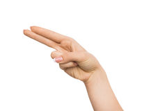 Human hand showing direction, isolated background Stock Photography