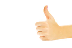 Human hand showing thumb up royalty free stock photography