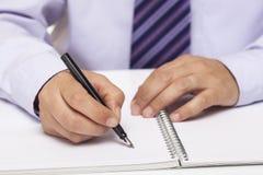 Human Hand Signing Stock Photos