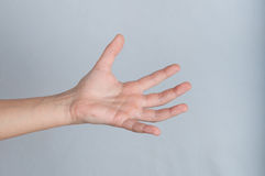 Human hand with splayed fingers Stock Image