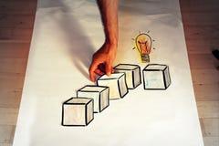 Blockchain idea concept picture stock photo