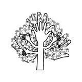 Human hand symbol Royalty Free Stock Photography