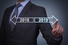 Free Human Hand Touching Old Year New Year Stock Photo - 133404320