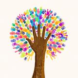 Human hand tree for culture diversity concept royalty free illustration
