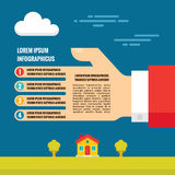 Human Hand - Vector Infographic Concept in Flat Style Design Stock Photos