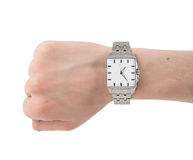 Human hand with watch Stock Photography