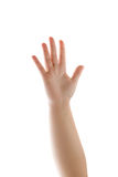 Human Hand Waving Isolated Royalty Free Stock Photo