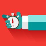 Human Hand With Stop Watch Royalty Free Stock Image