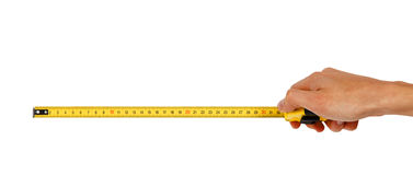 Free Human Hand With Tape-measure Stock Photos - 47135463