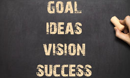 Human Hand Writing Goal Ideas Vision Success Royalty Free Stock Photography