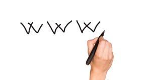Human hand writing Stock Image