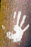 Human handprint Stock Image