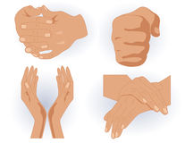 Human hands. Vector illustration, EPS file included Stock Photography