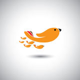 Human hands as birds family - concept vector Royalty Free Stock Image