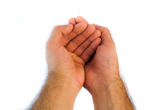 Human hands asking alms Royalty Free Stock Photo