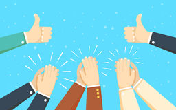 Human hands clapping. applaud hands. vector illustration Royalty Free Stock Photos