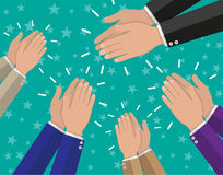 Human hands clapping applaud royalty free illustration