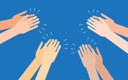 Human hands clapping ovation. Applaud hands vector illustration in flat style Royalty Free Stock Image