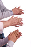 Human Hands Clapping Royalty Free Stock Photos