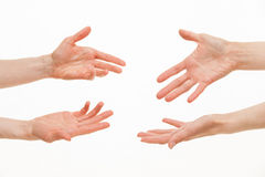 Human hands demanding something Royalty Free Stock Photography