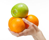 Human hands holding fresh fruits Royalty Free Stock Photography