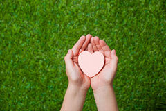 Human hands holding heart Royalty Free Stock Photo