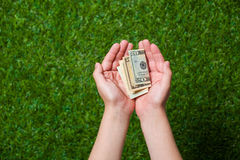 Human hands holding money Royalty Free Stock Photo