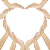 Human hands make heart shape Royalty Free Stock Image