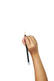Human hands with pencil and writting something Royalty Free Stock Photography