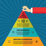 Human hands with pyramid - infographic business concept Royalty Free Stock Photos