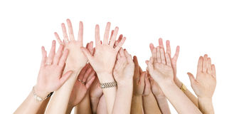 Human Hands Raised Royalty Free Stock Image