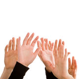 Human hands reaching for the sky Royalty Free Stock Images
