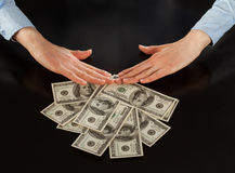 Human hands rejecting  of money Royalty Free Stock Photo