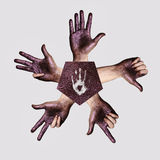 Human Hands showing Fingers royalty free stock image