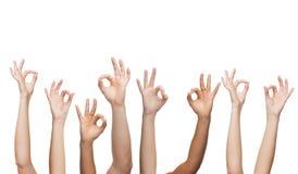 Human hands showing ok sign Stock Photos