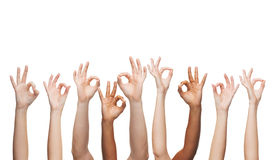 Human hands showing ok sign Royalty Free Stock Photos