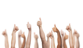 Human hands showing thumbs up Royalty Free Stock Images