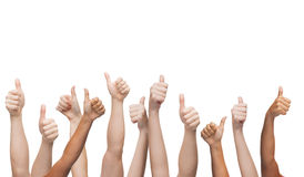 Human hands showing thumbs up Stock Photography