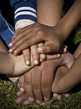 Human hands showing unity. A couple of friends working as a team Royalty Free Stock Photography