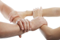 Human Hands Showing Unity Royalty Free Stock Photography