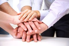 Human hands in teamwork Stock Image