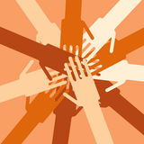 Human hands unity Stock Images