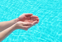 Human hands with water Royalty Free Stock Photos