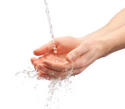 Human hands with water Stock Image