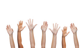 Human hands waving hands Stock Photos