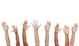 Human hands waving hands Royalty Free Stock Photo