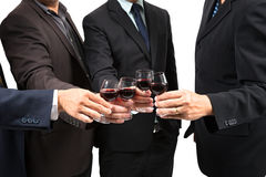 Human hands with wine Stock Photography
